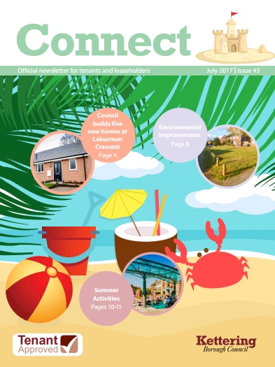 Front cover of Connect Newsletter.