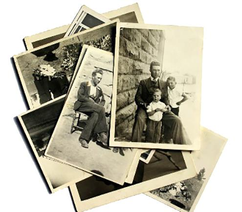Pile of family photographs