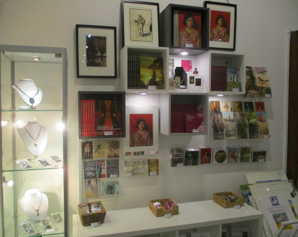 Inside the gallery shop.