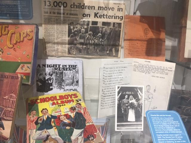 Children display from the Museum's VE 75 exhibition in February 2020