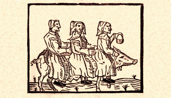 A drawing of witches from 1612